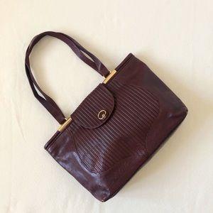 Vintage Italian Handmade Leather Shoulder Bag